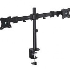 "VonHaus Double Arm Monitor Desk Mount Suitable for 13"" to 27"" Tilt and Swivel"