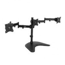 "VonHaus Triple Arm Monitor Desk Mound Stand Suitable for 13"" to 27"" Tilt and Swivel"