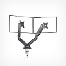 VonHaus Dual Monitor Arm Gas Mount With Clamp