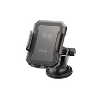 Smart Wireless 2 in 1 Qi Car Charger 10W Fast Wireless Charger Including Air Vent and Suction Mount