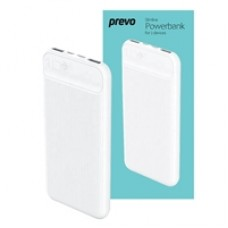 Prevo SP3012 10000mAh Slim Dual-Port Powerbank White