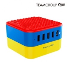 Team WD02 Brick 5 Port USB Smart Quick Charger