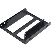 """Akasa Dual 2.5 SSD / HDD Adapter Mount Fit 2 x 2.5"""" in a 3.5"""" bay"""