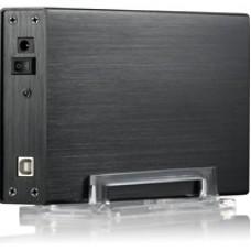 "EVO E-U35FS 3.5"" Sata USB 2.0 Slim External Hard Drive Enclosure Black Colour"