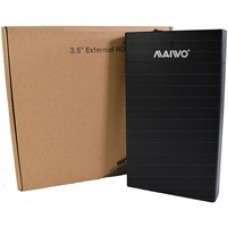 "Maiwo USB 3.0 3.5"" External Hard Drive Enclosure- Black  - With Power Adapter"