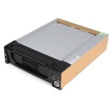 StarTech Black Aluminum 5.25in Rugged SATA Hard Drive Mobile Rack Drawer