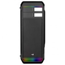 Aerocool Aero-500 RGB Mid Tower 1 x USB 3.0 / 2 x USB 2.0 Tempered Glass Side Window Panel Black Case with RGB LED Light Strips