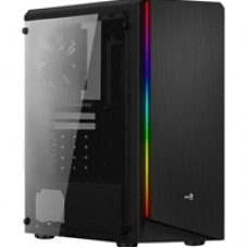 Aerocool Rift Mid Tower 1 x USB 3.0 / 2 x USB 2.0 Side Window Panel Black Case with RGB LED Lighting