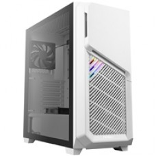 Antec DP502 FLUX White Mid Tower 2 x USB 3.0 Tempered Glass Side Window Panel White Case with RGB LED Lighting