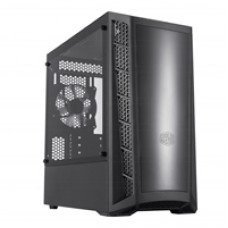 Cooler Master MasterBox MB320L Micro Tower 2 x USB 3.2 Gen 1 Edge-to-Edge Tempered Glass Side Window Panel Black Case with DarkMirror Front Panel