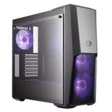 Cooler Master MasterBox MB500 Mid Tower 2 x USB 3.0 Tempered Glass Side Window Panel Black Case with RGB LED Fans
