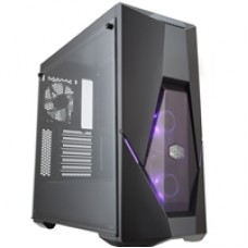 Cooler Master MasterBox K500 Mid Tower 2 x USB 3.0 Tempered Glass Side Window Panel Black Case with RGB LED Fans