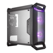 Cooler Master MasterBox Q300P Micro Tower 2 x USB 3.0 Side Window Panel Black Case with RGB LED Fans