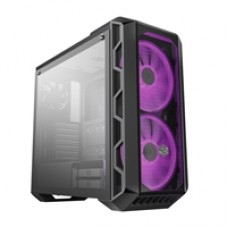 Cooler Master H500 Mid Tower  2 x USB 2.0 / 2 x USB 3.0 Tempered Glass Side Window Panel Iron Grey Case with RGB LED Fans