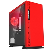 Game Max Expedition Red Micro Tower 1 x USB 3.0 / 2 x USB 2.0 Side Window Panel Red Case with Red LED Fan