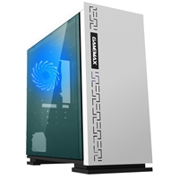 Game Max Expedition White Micro Tower 1 x USB 3.0 / 2 x USB 2.0 Side Window Panel White Case with Blue LED Fan