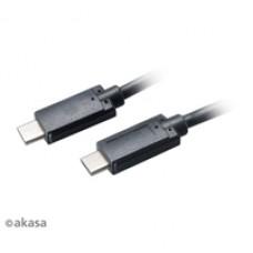 Akasa USB 3.1 C (M) to USB 3.1 C (M) 1m Black Retail Packaged Data Cable