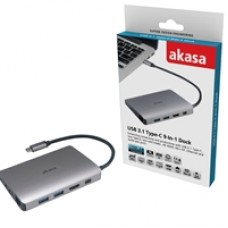 Akasa USB 3.1 Type-C (M) 9-in-1 Dock