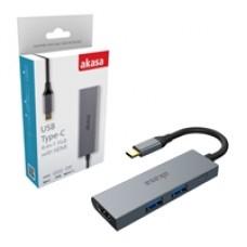 Akasa AK-CBCA19-18BK USB Type-C 4-In-1 Hub with HDMI