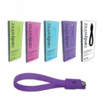 """Candywirez USB 2.0 A (M) to USB 2.0 Micro B (M) 0.15m / 6"""" Purple Retail Packaged Magnetic Silicon Tangle-Free Data Cable"""