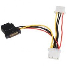 StarTech SATA Power (M) to 3 x 4-pin Molex (F + F + F) 0.15m Retail Packaged Internal Adapter Cable
