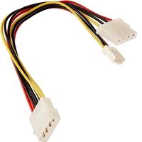 StarTech 4-pin Molex (M) to 2 x 4-pin Molex (F + F) 0.2m Retail Packaged Internal Splitter Cable