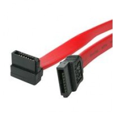 StarTech SATA III (M) to Right-Angled SATA III (M) 0.45m Red Retail Packaged Internal Data Cable