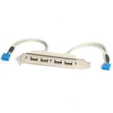 StarTech 4 Port USB 2.0 Type-A (F) Slot Plate Adapter