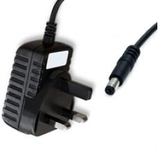 UK Mains to Barrel Power (5.5 / 2.1) (M) 1m Black OEM Power Cable