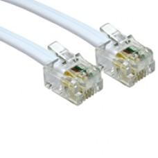 RJ11 (M) to RJ11 (M) 5m White OEM Cable