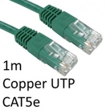 RJ45 (M) to RJ45 (M) CAT5e 1m Green OEM Moulded Boot Copper UTP Network Cable