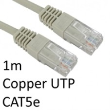 RJ45 (M) to RJ45 (M) CAT5e 1m Grey OEM Moulded Boot Copper UTP Network Cable