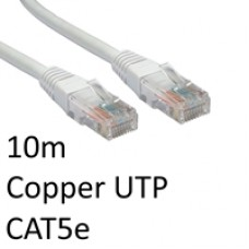 RJ45 (M) to RJ45 (M) CAT5e 10m White OEM Moulded Boot Copper UTP Network Cable