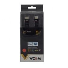 VCOM HDMI 1.4 (M) to HDMI 1.4 (M) 5m Black Nylon Braided Retail Packaged Display Cable