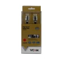 VCOM HDMI 1.4 (M) to HDMI 1.4 (M) 3m Black Nylon Braided Aluminium Headed Retail Packaged Professional Display Cable