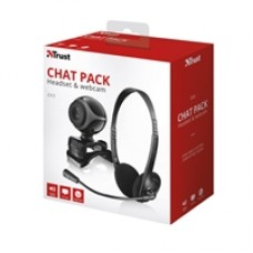 Trust Exis Black Chatpack with Headset & Webcam