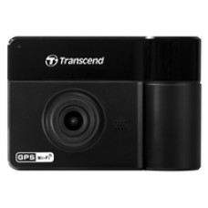Transcend DrivePro 550 Dual Lens 1080P Full HD Dashcam With Built-in Wi-Fi and GPS Includes Adhesive Mount