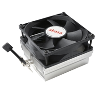 Akasa AK-CC1107EP01 AMD Socket 80mm 3000RPM Black Fan CPU Cooler