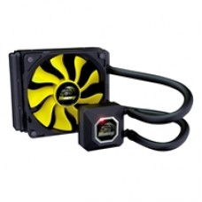 Akasa Venom A10 Universal Socket 120mm 1900RPM Black & Yellow AiO Liquid CPU Cooler