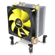 Akasa Venom Pico Universal Socket 92mm PWM 3000RPM Yellow Fan CPU Cooler