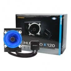 Antec Kuhler H20 K120 Universal Socket 120mm PWM 1800RPM Blue LED AiO Liquid CPU Cooler with Low Profile CPU Block