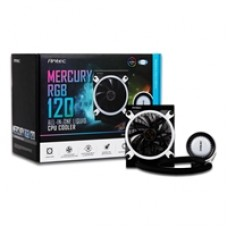 Antec Mercury 120 RGB Universal Socket 120mm PWM 1800RPM RGB LED AiO Liquid CPU Cooler with Wired RGB Controller