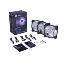 Cooler Master MasterFan Pro 120 RGB LED Fans 3 in 1 Pack with RGB LED Controller