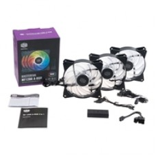 Cooler Master MasterFan MF120R Addressable RGB 3 Fan Pack with ARGB Controller