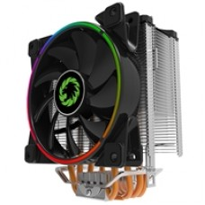 Game Max Gamma 500 Universal Socket 120mm PWM 1800RPM Addressable RGB LED Fan CPU Cooler with Wired Addressable RGB Controller