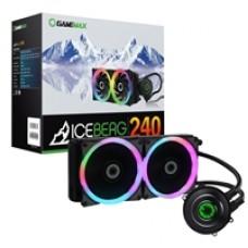 Game Max Iceberg Universal Socket 240mm PWM 1800RPM RGB LED AiO Liquid CPU Cooler