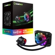 Game Max Ice Chill Universal Socket 120mm PWM 1900RPM Addressable RGB LED AiO Liquid CPU Cooler