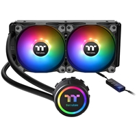 Thermaltake Water 3.0 240 ARGB Sync Edition Universal Socket 240mm PWM 1500RPM ARGB LED AiO Liquid CPU Cooler with Wired ARGB Controller