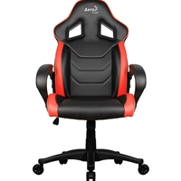 Aerocool AC60C Air Black and Red Gaming Chair with Air Technology & Unique Carbon Fibre Blend