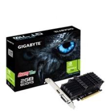 Gigabyte GeForce GT 710 2GB GDDR5 Silent 0dB Passive Cooling System Low Profile Graphics Card
